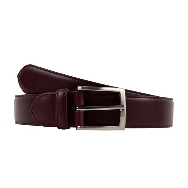 Leyva Calf Leather Belt Burgundy