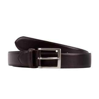 Leyva Calf Leather Belt Dark Brown