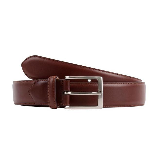 Leyva Calf Leather Belt Medium Brown