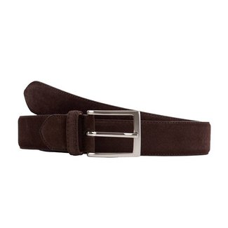 Leyva Suede Belt Dark Brown