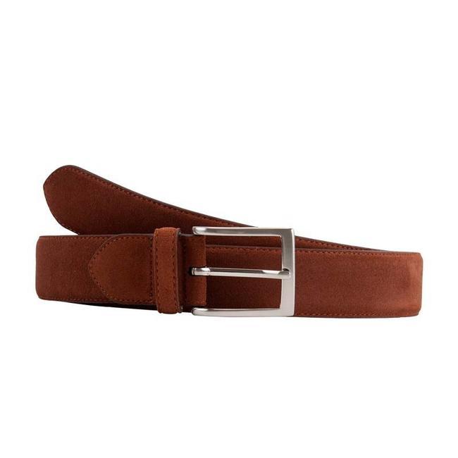 Leyva Suede Belt Medium Brown