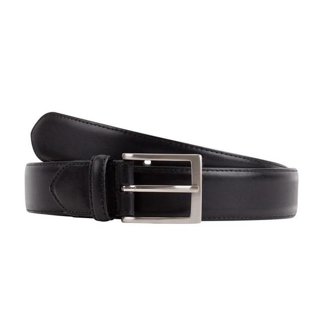 Leyva Calf Leather Belt Black