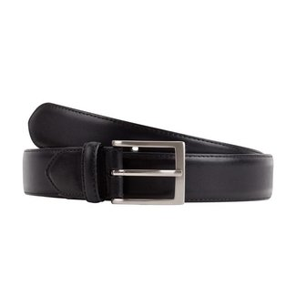 Leyva Burnished Calf Leather Belt Black