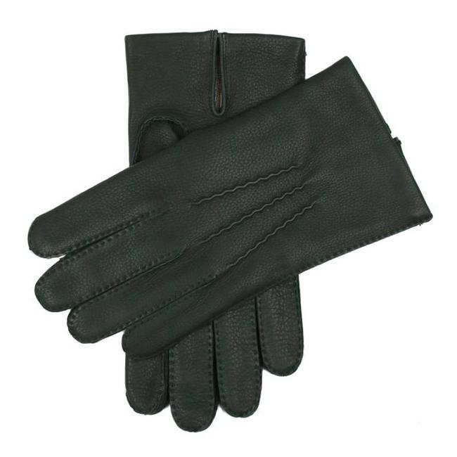 Dents Leren Handschoenen Donkergroen Cambrigde