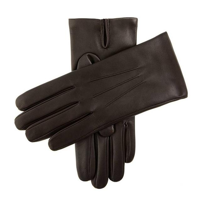 Dents Leather Gloves Dark Brown Bath