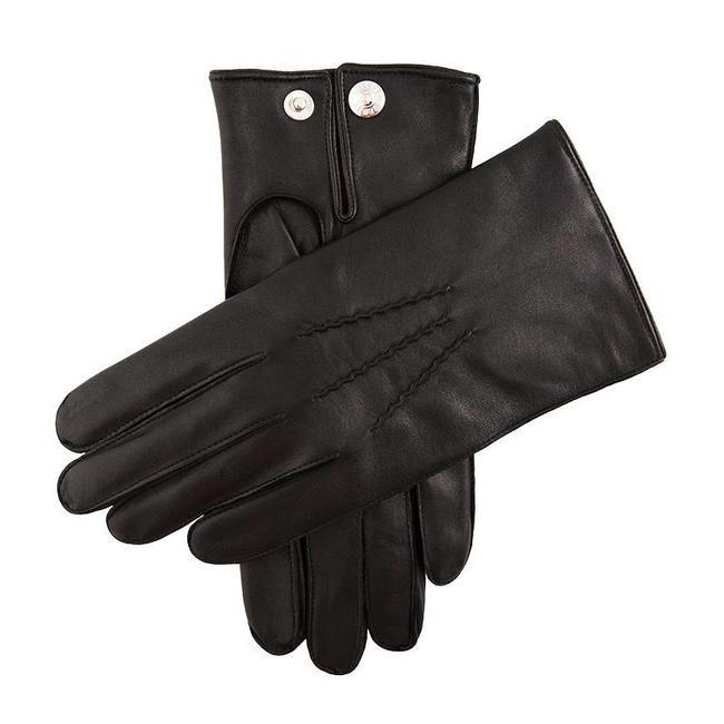 Dents Leren Handschoenen Zwart Burford