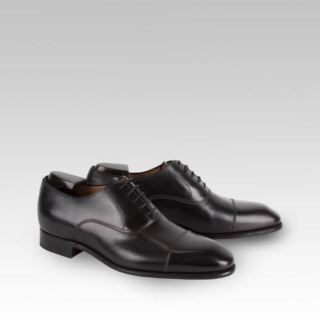 Carlos Santos Dress Shoes in Noir Shadow Patina