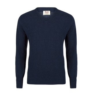 William Lockie Pullover Blau Gordon Geelong  V-Ausschnitt