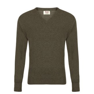 William Lockie Sweater Green Gordon Geelong V-neck
