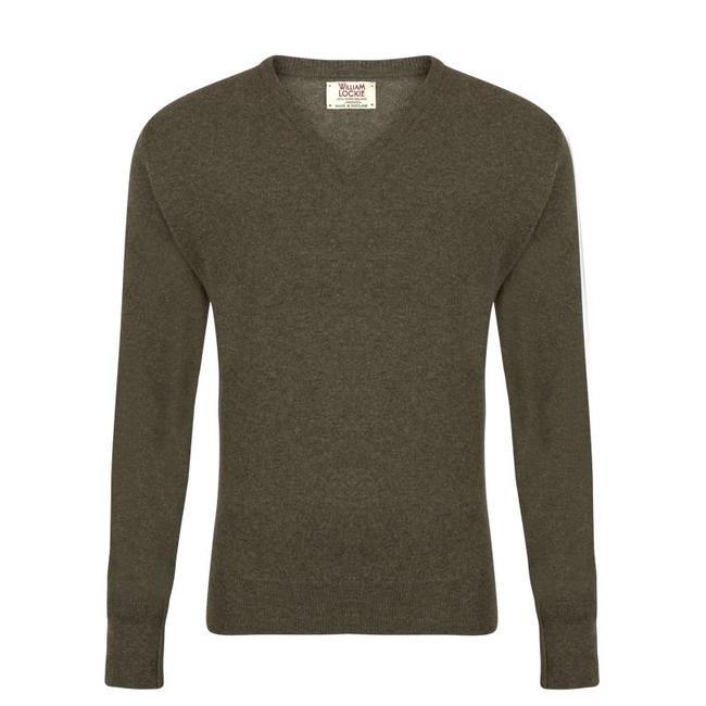 William Lockie Sweater Green Gordon Geelong V-neck
