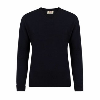William Lockie Sweater Navy Gordon Geelong V-neck