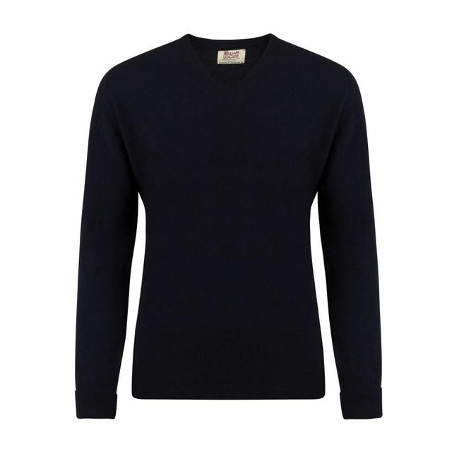 William Lockie Sweater Navy Gordon Geelong V-neck