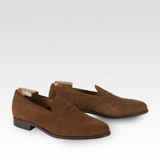 Carlos Santos Penny Loafer Light Brown Suède