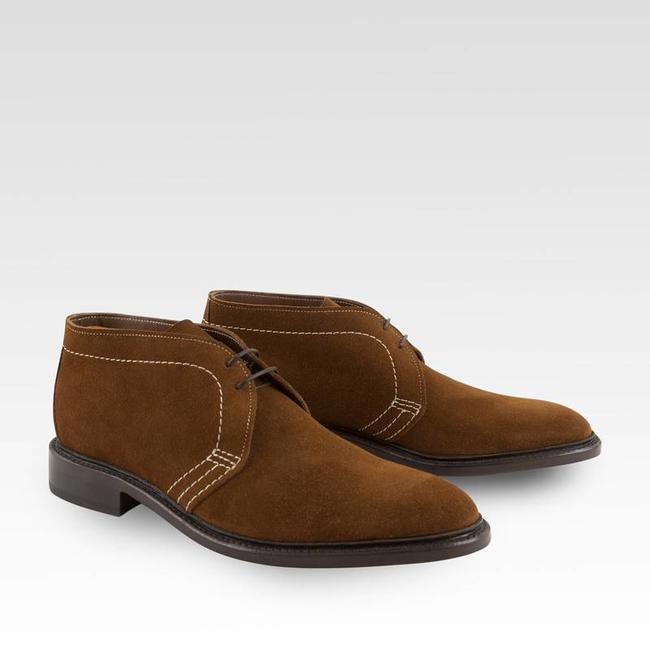 Carlos Santos Unlined Chukka Light Brown Suede