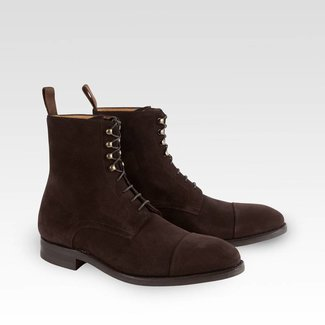Carlos Santos Field Boots Dark Brown Suede