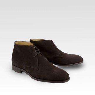 Carlos Santos Chukka Boots Dark Brown Suede