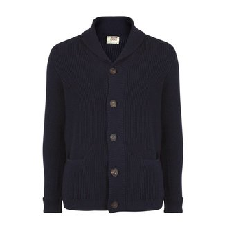 William Lockie Weste Marine Merino Wolle Jamie