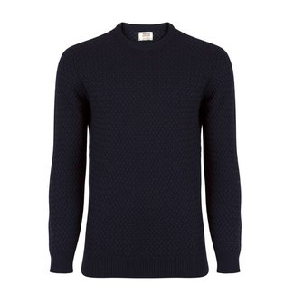 William Lockie Sweater Dark Blue Interweave Merino Wool