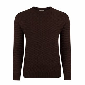 William Lockie Sweater Brown Interweave Merino Wool