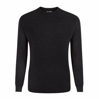 William Lockie Pullover Dunkelgrau Interweave Merino Wolle