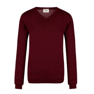 William Lockie Sweater Burgundy Superfine Merino Wool