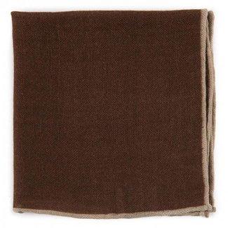 Drake's Pocket Square Brown Wool
