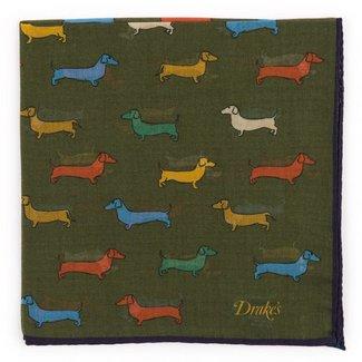 Drake's Pochet Groen Honden