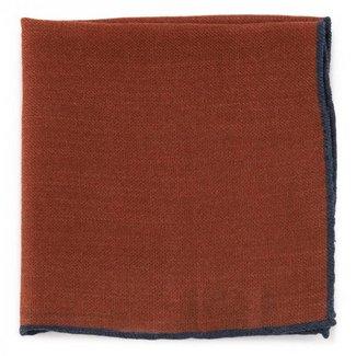 Drake's Pocket Square Rust Wool
