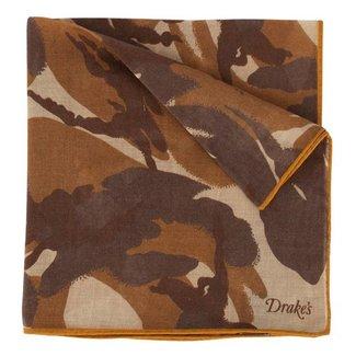 Drake's Pochet Bruin Camouflage Print