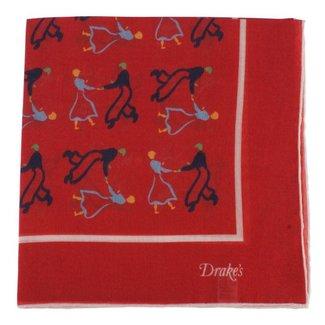 Drake's Pocket Square Dancer Print