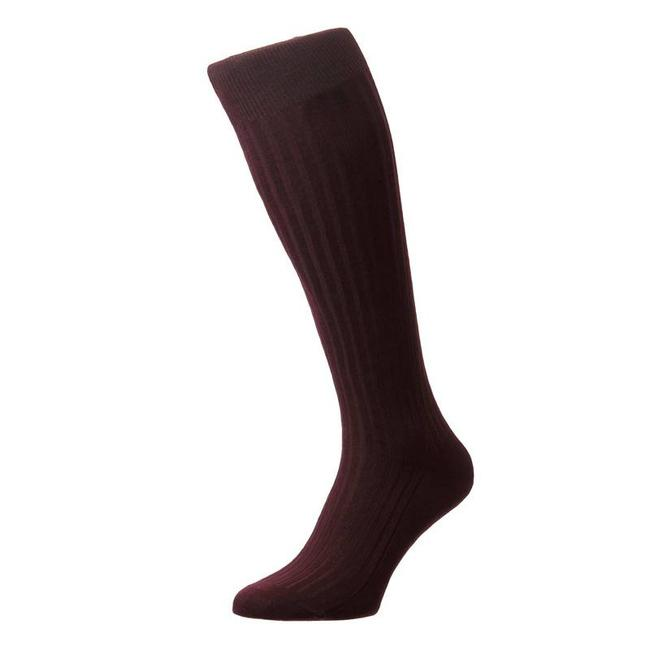 Pantherella OTC Socks Burgundy Cotton Danvers