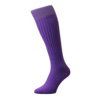 Pantherella OTC Socks Purple Cotton Danvers