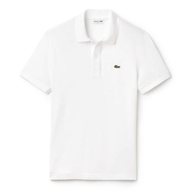 Lacoste Polo Shirt White Slim Fit