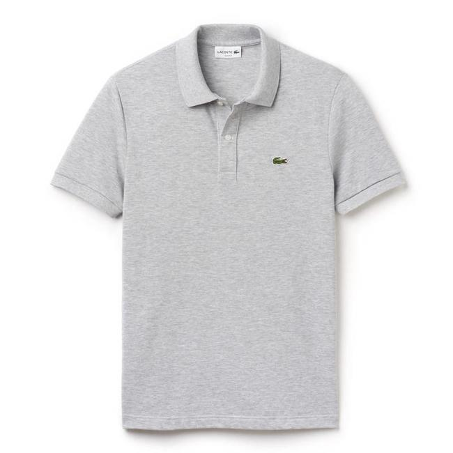 Lacoste Polo Shirt Silver Grey Slim Fit