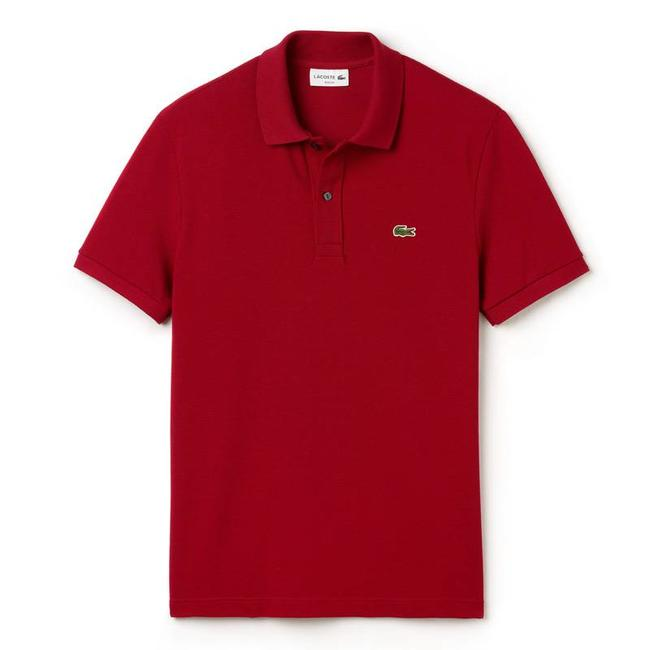 Lacoste Polo Shirt Burgundy Slim Fit