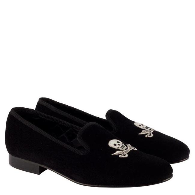 b58af566e75 Mr. Crevan Velvet Slippers Black Skull Cutlass - Quality Shop