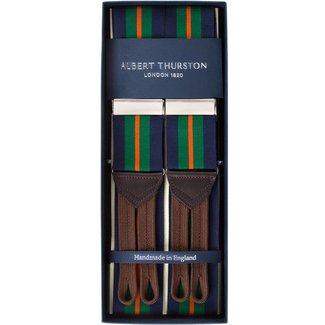 Albert Thurston Braces Navy Green Orange