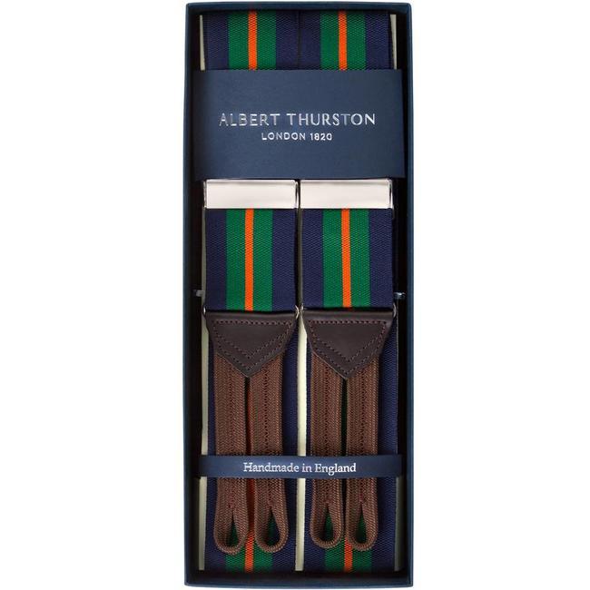 Albert Thurston Bretels Navy Groen Oranje