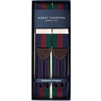 Albert Thurston Bretels Navy Bordeaux Groen