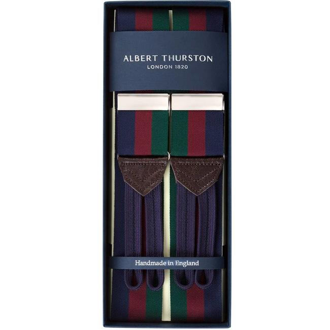 Albert Thurston Braces Navy Burgundy Green