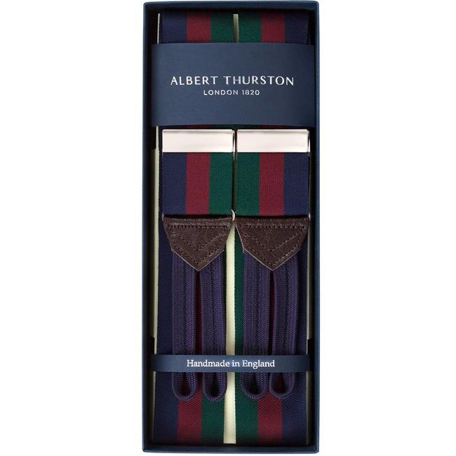Albert Thurston Braces Navy Burgundy Green