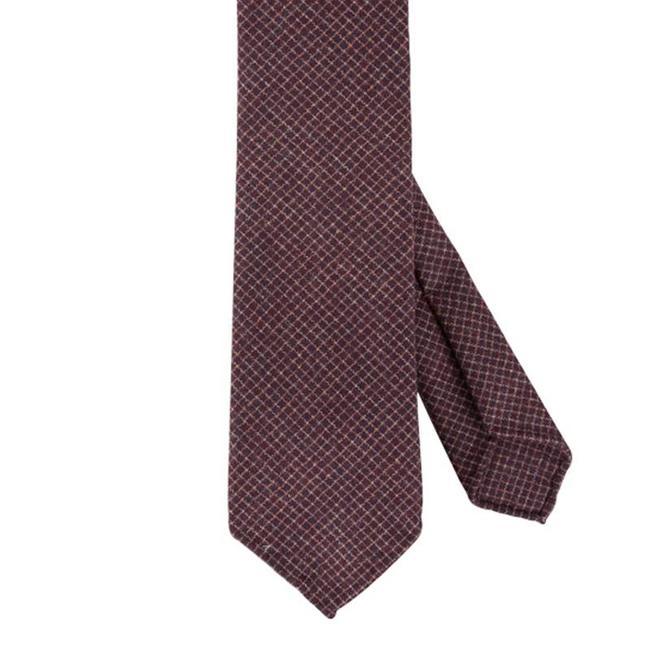 Drake's Krawatte Braun Kariert Wolle