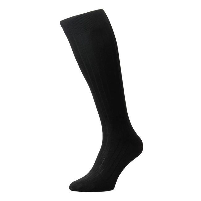 Pantherella OTC Socks Black Silk Asberley