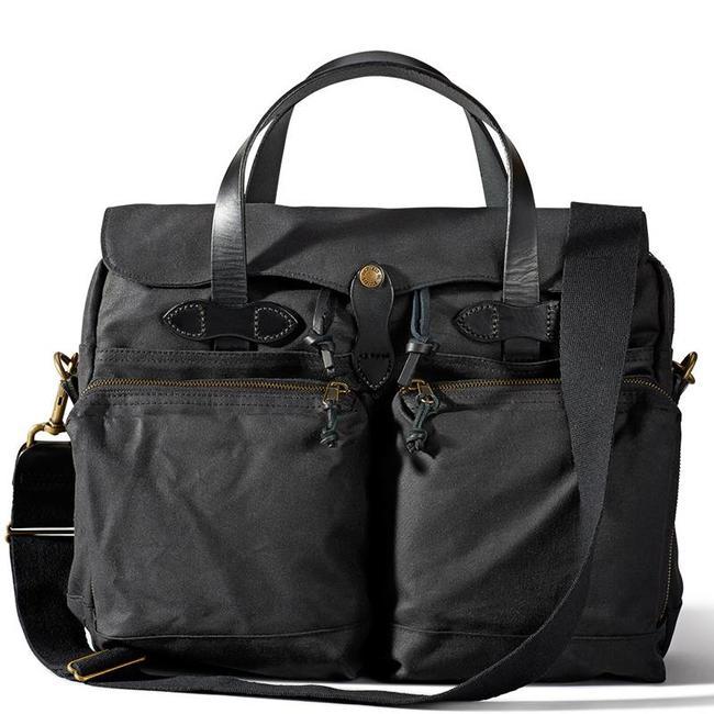 Filson 24-hour Tin Cloth Briefcase 11070140 Zwart