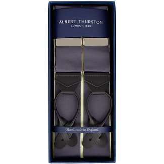 Albert Thurston Braces Dark Grey