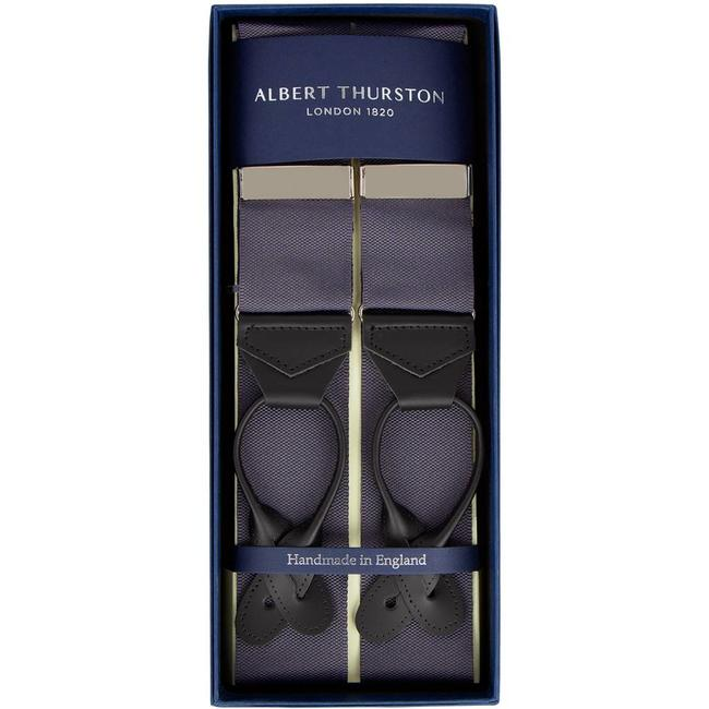 Albert Thurston Braces Dark Grey
