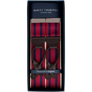 Albert Thurston Braces Burgundy Navy