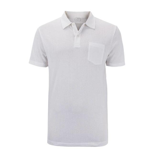 Sunspel Polo Shirt White Riviera