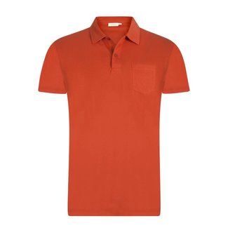 Sunspel Polo Russet Orange Riviera