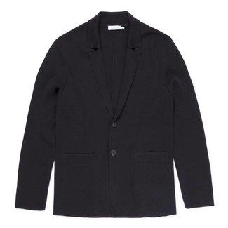 Sunspel Blazer Navy Merino Wool
